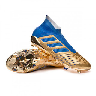ADIDAS PREDATOR 19+ FG FOOTBALL BOOTS Gold metallic-Football blue-White