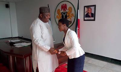 Chinecherem Cynthia Ali met Enugu State governor, Ifeanyi Ugwuanyi