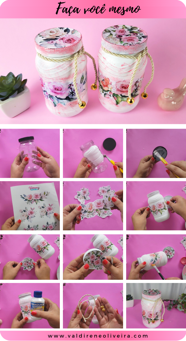 Diy -do it yourself - Artesanato com pote de vidro