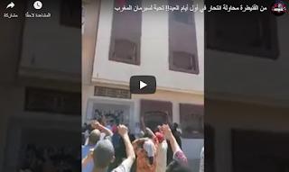 """""""سوبرمان"""" مغربي غامر بحياته لافشال محاولة إنتحار في أول أيام العيد"""