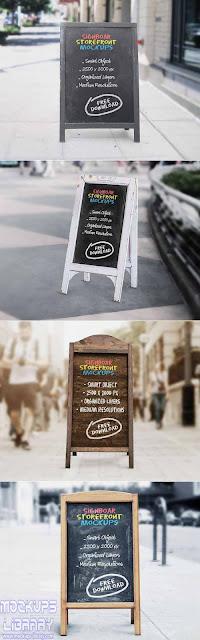signboard chalkboard mockup