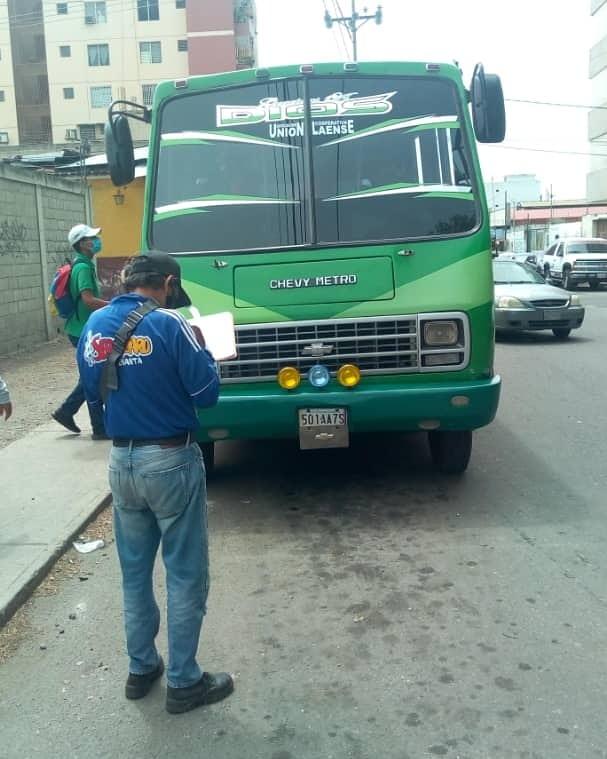 31 Unidades de Transporte multadas por violación al cono monetario