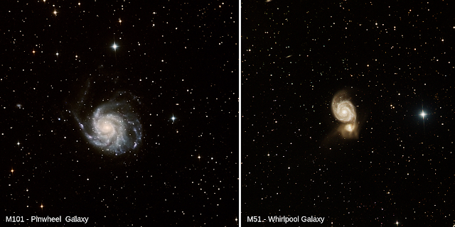 M101 and M51 Imaged on ATEO-1 by students from the Astro Club at Sacred Heart High School Kingston, MA