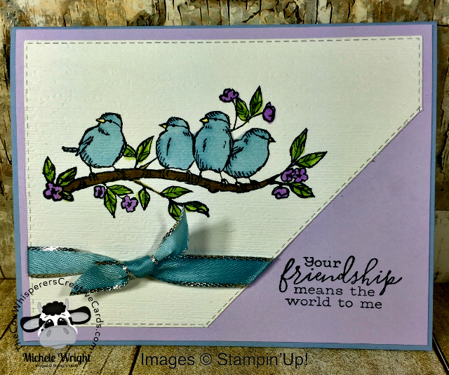 Card, Free As A Bird, Stitched Rectangle Dies, Friendship