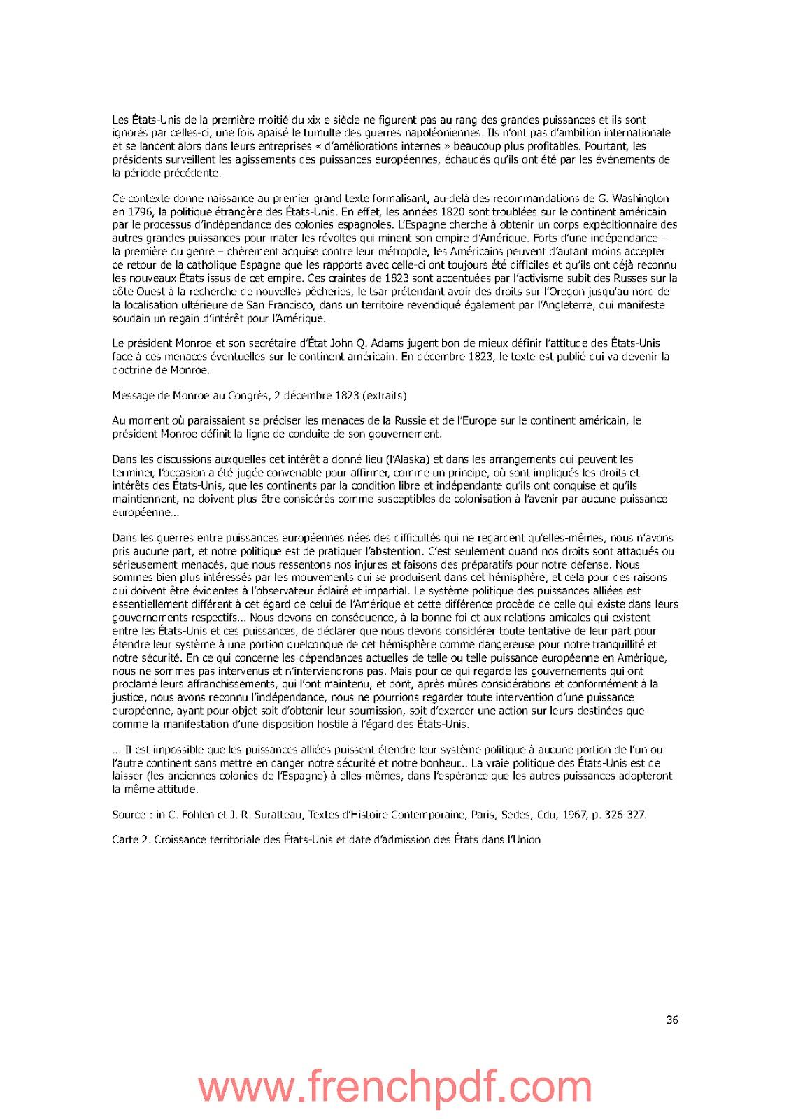 Histoire des Etats-Unis de Jacques Portes PDF Gratuit