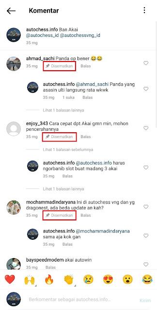 Cara Menyematkan Komentar atau PIN Komentar Di Postingan Instagram