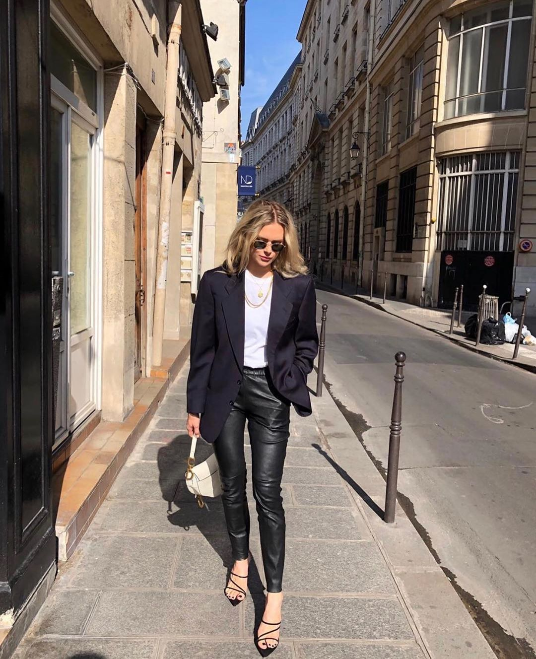 This French Girl's Outfit Goes Seamlessly From Day to Night