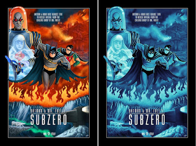 Batman & Mr. Freeze Subzero Giclee Print by Sam Gilbey x Bottleneck Gallery