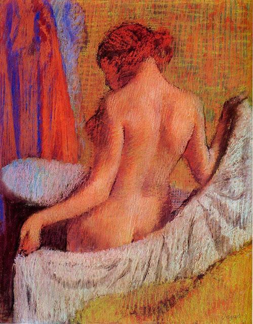 Эдгар Дега - После купания (1890)