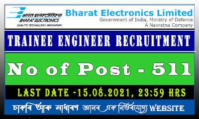 Bharat Electronics Limited Engineer Recruitment 2021