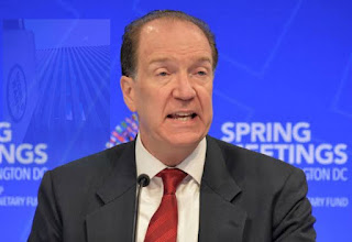 President of the World Bank David Malpass warns that extreme poverty could surge by 100 million