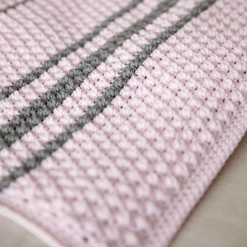 Bobbles & Stripes Baby Blanket - Free Pattern