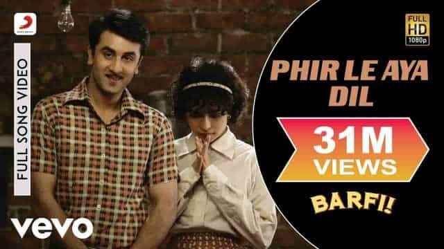 PHIR LE AYA DIL LYRICS IN HINDI - Barfi! | Arijit Singh, Pritam