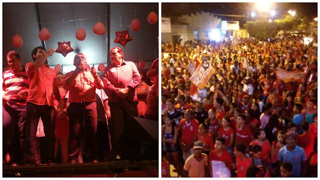 Multidão lota comício da coligação 'AGORA É A VEZ DO POVO'