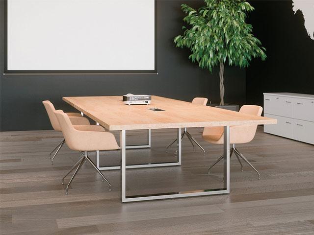 Nên chọn mua những mẫu bàn họp có ổ điện