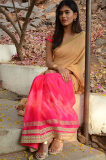 Actress Heba Patel Stills in Half Saree at Nenu Naa Boyfriends Movie Opening  0264