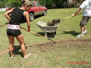 Preparing ground for above ground pool installation