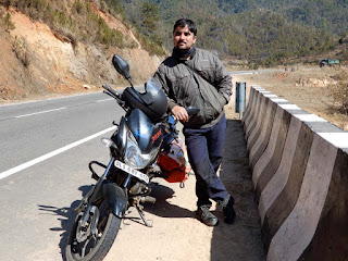 Riding on Shillong Tura Road