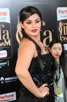 Glamorous Actress Neetu Chandra in Black dress at IIFA Utsavam Awards 2017  HD Exclusive Pics 37.JPG