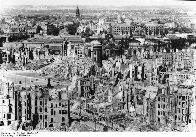 Dresden after  American British bombimg