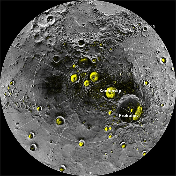 Does Planet Mercury has frozen water ?