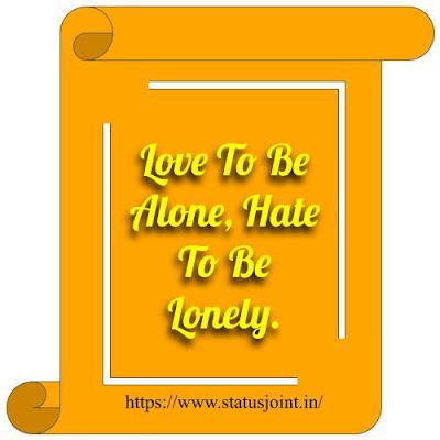 I Hate Love Status In English