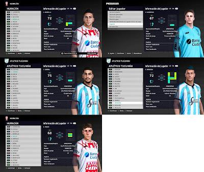 PES 2021 Huracan & Atlético Tucumán Facepack by Diegotatoosparapes
