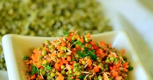 Sprouted Green Gram Salad – Sprouts Salad Recipe   Chitra ...