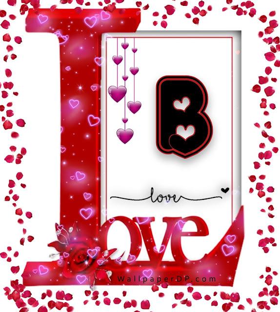 Beautiful Love Frame Unique Design A to Z alphabets Dpz