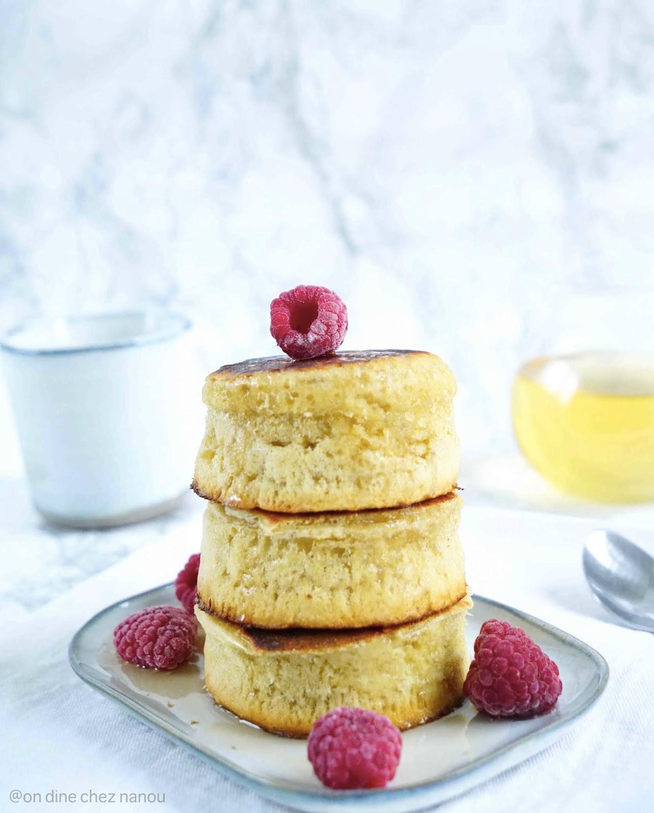 pancakes , chandeleur , farine épeautre , lait végétal , soja , brunch , super moelleiux