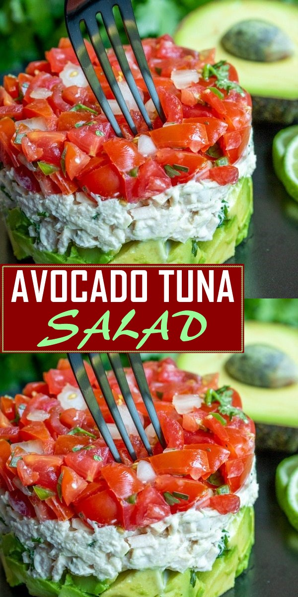 AVOCADO TUNA SALAD RECIPE #dinnerrecipes