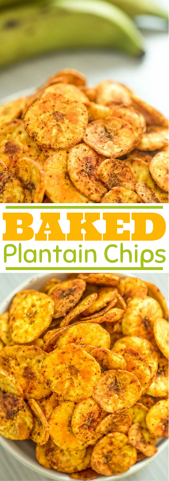 Baked Plantain Chips #healthy #snacks #lowcarb #glutenfree #keto