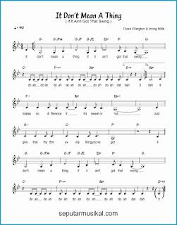 chord it don't mean a thing lagu jazz standar