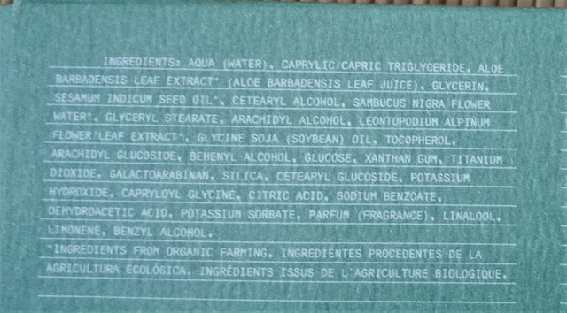 Ingredientes Edelweiss facial bio day cream