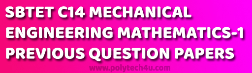 c-14 dme 102-engineering mathematics -1 previous question papers