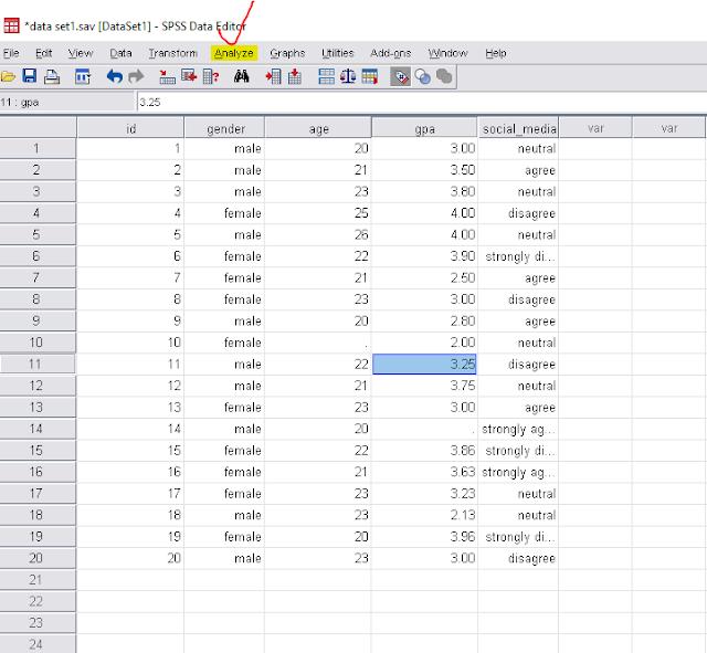 spss data set
