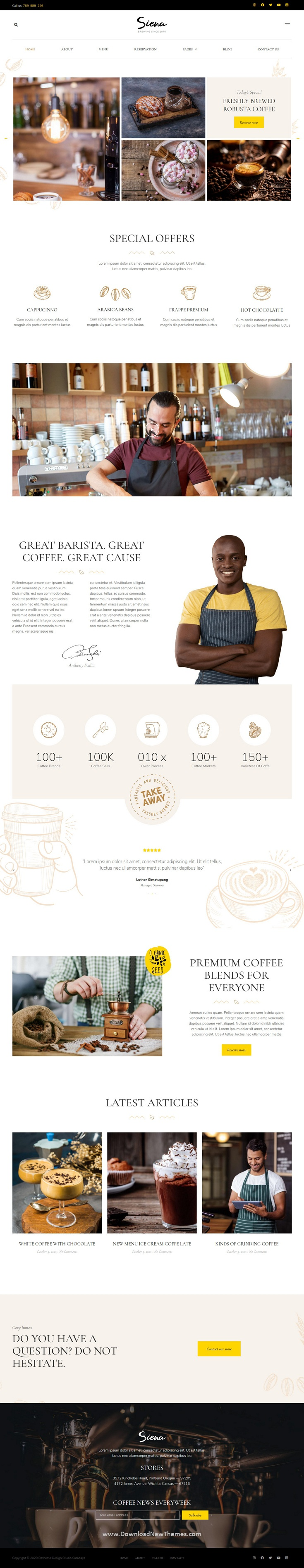 Cafe and Coffee Shop Template Kit