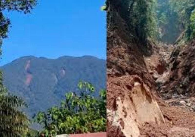 Longsor Menyerupai Belahan Terpanjang Terjadi di Gunung Salak