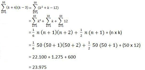 Rumus dan Sifat Sifat Notasi Sigma Matematika Pengertian, Rumus dan Sifat Sifat Notasi Sigma Matematika