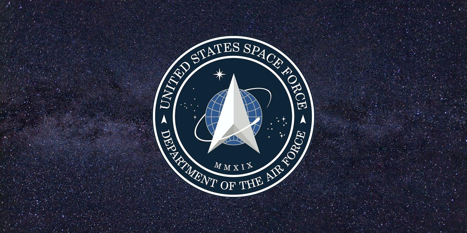 Resultado de imagem para logo Força Espacial dos Estados Unidos