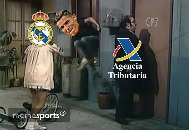 Cristiano Ronaldo y Hacienda descripción gráfica señor barriga don ramon el chavo