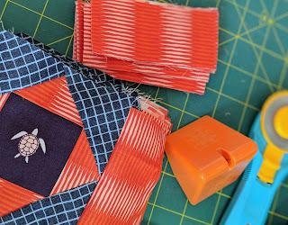 pineapple quilt blocks thread cutter