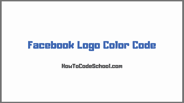Facebook Logo Color Code
