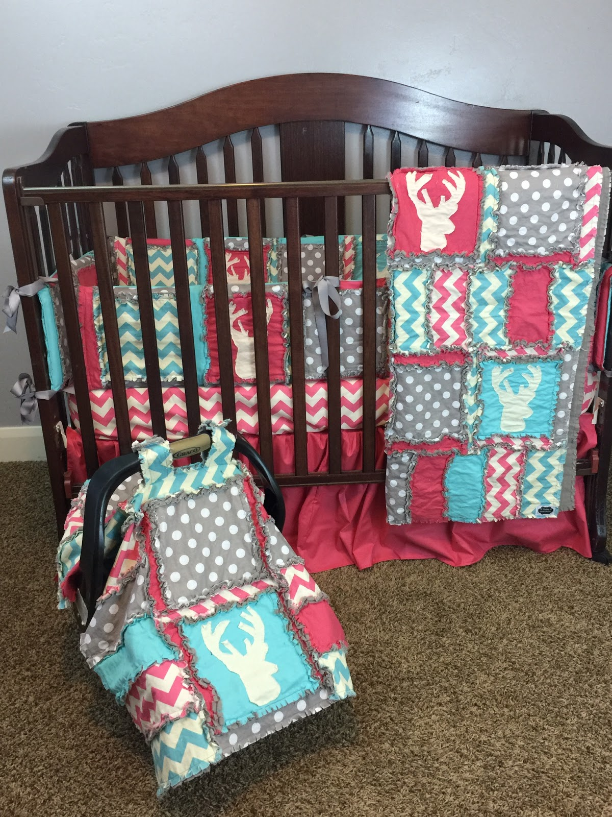 Woodland Baby Girl Quilts and Nursery Bedding with Deer ...