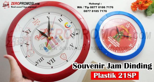 Souvenir Jam dinding/meja kode 218P 30 cm, Jam Dinding Promosi tipe 218 P Bisa cetak logo, Jam Dinding Plastik Murah Kode 218P
