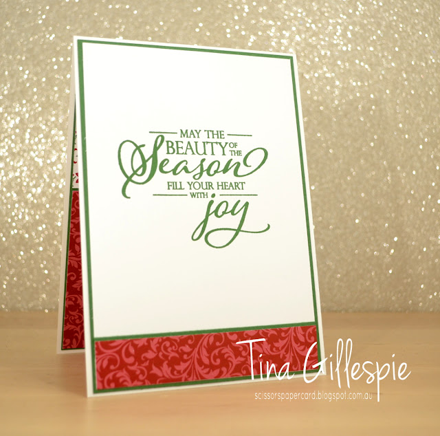 scissorspapercard, Stampin' Up!, Art With Heart, Heart Of Christmas, Dashing Along DSP, Christmas Traditions, Merry Christmas To All
