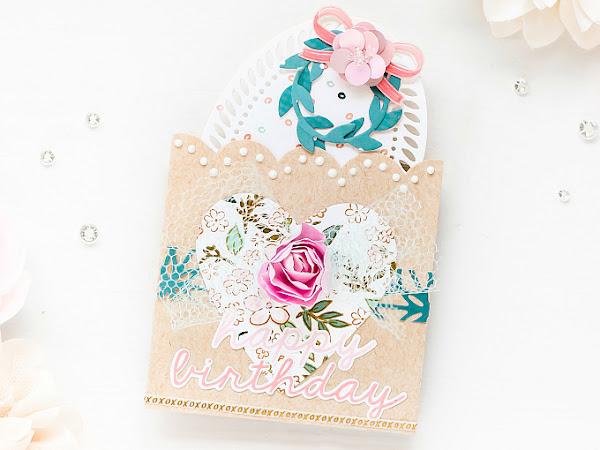 Happy Birthday Pockets - The Stamp Market, Altenew + Pinkfresh | Delicate Series