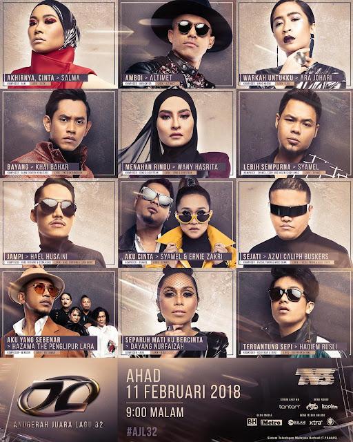 Senarai Pemenang AJL 32 Anugerah Juara Lagu 2018