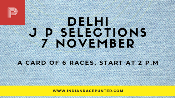 Delhi Jackpot Selections 7 November