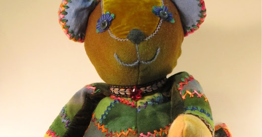 My RARE Science Celebrity Bear for The Quilt Show Auction